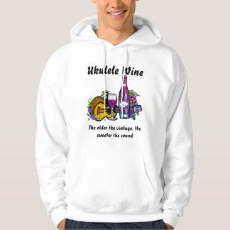 Ukulele Wine Hoodie