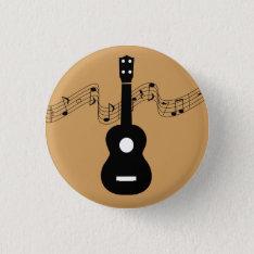 Ukulele With Music Notes Button at Zazzle