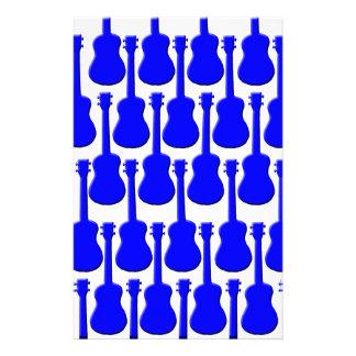 Ukuleles azules personalized stationery