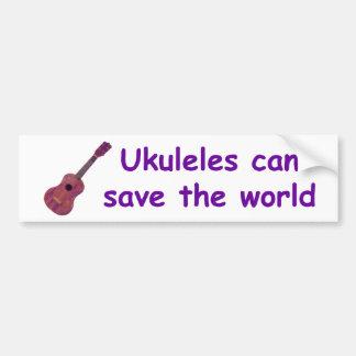 Ukuleles can save the world car bumper sticker