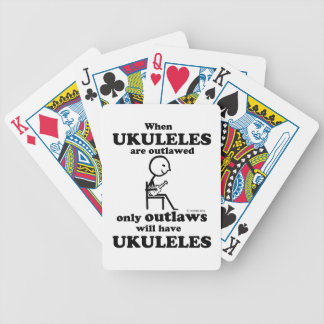 Ukuleles proscritos barajas de cartas