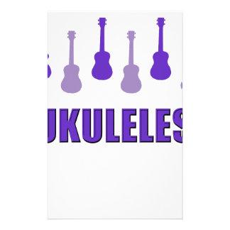 Ukuleles púrpuras personalized stationery