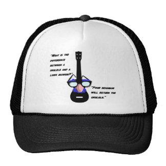 Ukuleles y cortacéspedes gorras de camionero