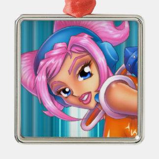 Ulala Anime Game Girl Metal Ornament