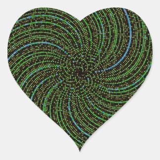 Ulam Spiral Heart Stickers