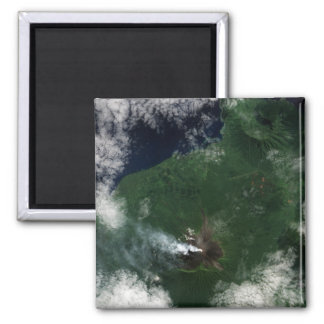 Ulawun Volcano of New Britain Summit 2 Inch Square Magnet
