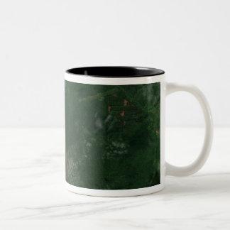 Ulawun Volcano of New Britain Summit Two-Tone Coffee Mug