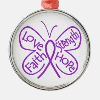 Ulcerative Colitis Butterfly Inspiring Words Christmas Ornament
