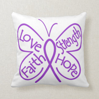 Ulcerative Colitis Butterfly Inspiring Words Throw Pillow
