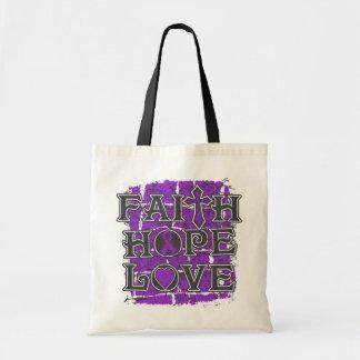 Ulcerative Colitis Faith Hope Love Canvas Bags