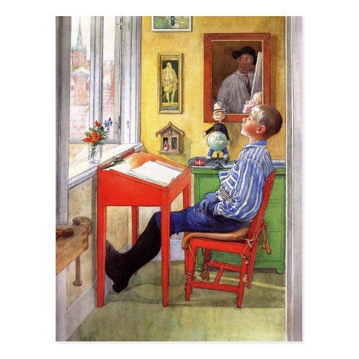 Ulf que hace su preparación postales