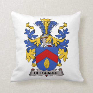 Ulfsparre Family Crest Throw Pillows