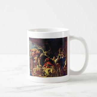 Ulises en la cueva de Polyphemus de Jordaens Jaco Taza Clásica