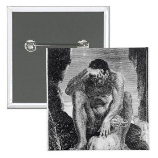 Ulises que escapa de Polyphemus los Cyclops Pin