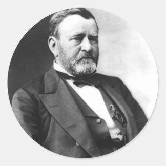 Ulises S. Grant Pegatinas Redondas