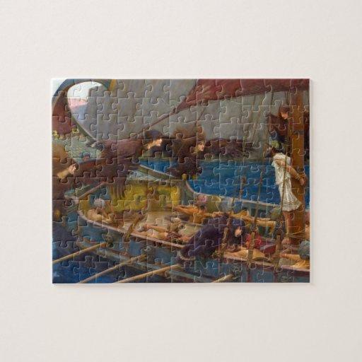 Ulises y las sirenas de John William Waterhouse Rompecabeza