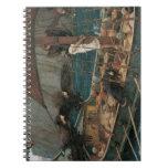 Ulises y las sirenas por el Waterhouse de JW Libretas Espirales