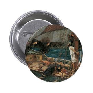 Ulises y las sirenas por el Waterhouse de JW Pin Redondo 5 Cm