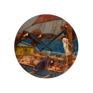 Ulises y las sirenas reloj redondo mediano