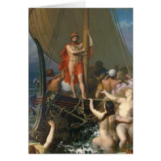 Ulises y las sirenas tarjeta de felicitación