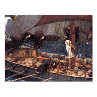 Ulises y las sirenas tarjeta postal