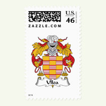 Ulloa Family Crest Stamps