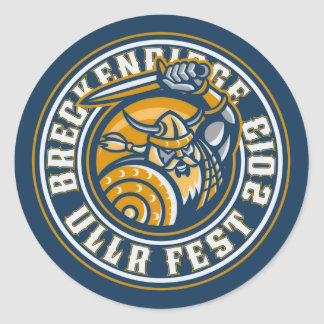 Ullr Fest 2013 Circle Classic Round Sticker