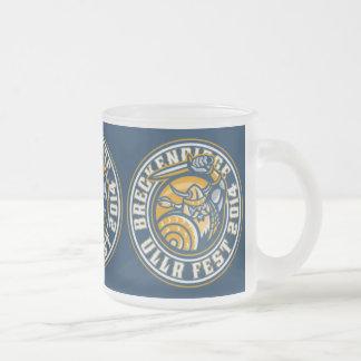 Ullr Fest 2014 Blue Frosted Glass Coffee Mug