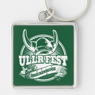 Ullr Fest Old Circle Green Silver-Colored Square Keychain
