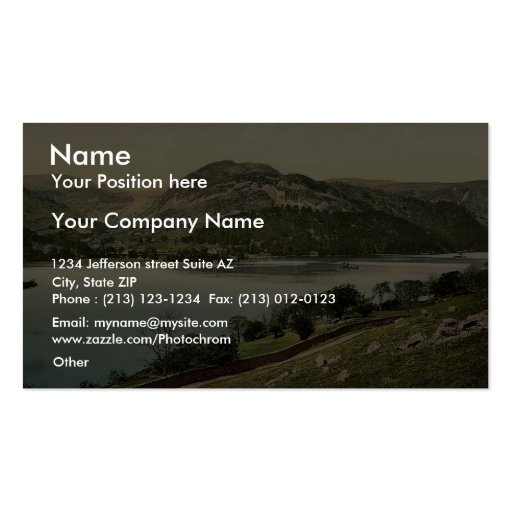 Ullswater, from Place Fell, Lake District, England Business Card Templates