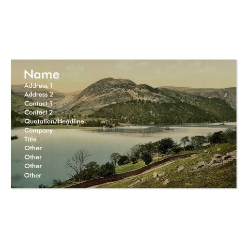 Ullswater, from Place Fell, Lake District, England Business Card Template