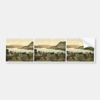 Ullswater, hotel and lake, Patterdale, Lake Distri Bumper Stickers