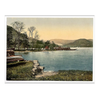 Ullswater, Howtown Pier, Lake District, England ra Postcard
