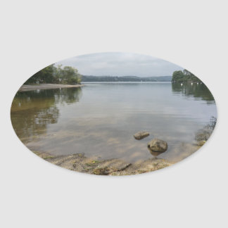 Ullswater Lake from Howtown, Cumbria Oval Sticker