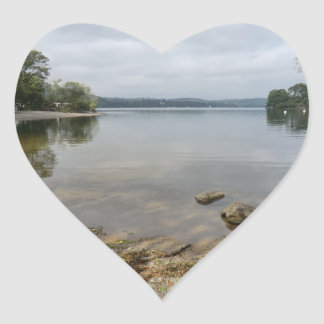 Ullswater Lake from Howtown, Cumbria Heart Sticker