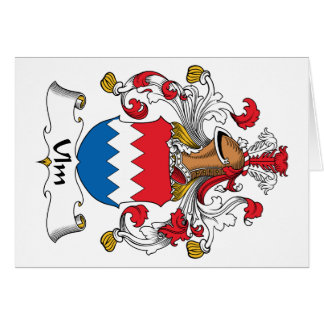 Ulm Family Crest Card