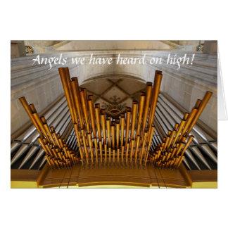 Ulm Münster organ Christmas card