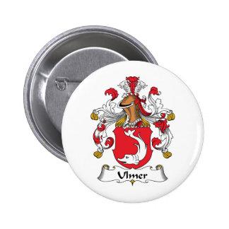 Ulmer Family Crest 2 Inch Round Button