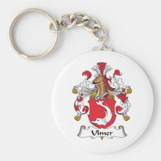 Ulmer Family Crest Basic Round Button Keychain