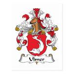 Ulmer Family Crest Postcard