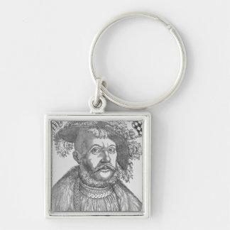 Ulrich, duque de Wurttemberg Llavero Cuadrado Plateado