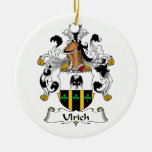 Ulrich Family Crest Christmas Tree Ornaments