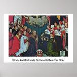 Ulrich y su familia de Hans Holbein la anciano Posters