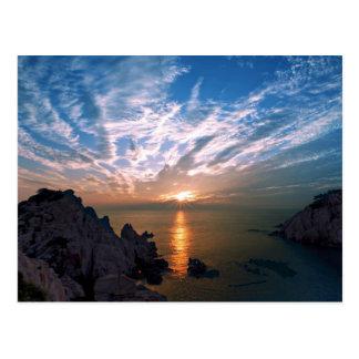 Ulsan, salida del sol de la Corea del Sur Postal