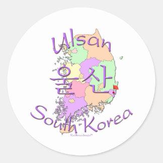 Ulsan South Korea Round Stickers