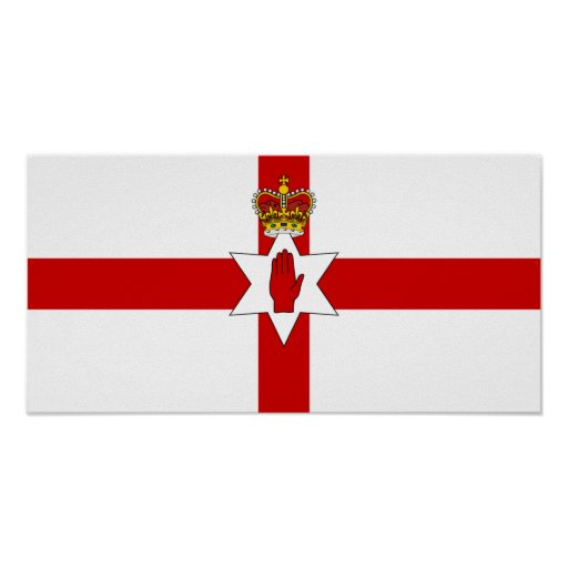 Ulster Banner Northern Ireland Flag Poster