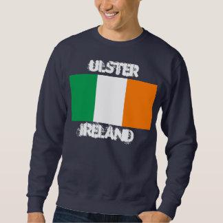 Ulster, Irlanda con la bandera irlandesa Suéter