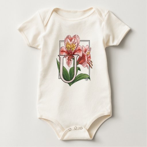 Ulster Mary Flower Monogram Bodysuits