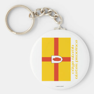Ulster Province Flag with Name Basic Round Button Keychain