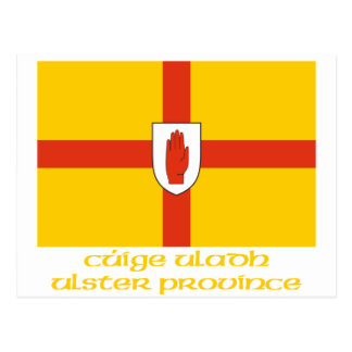 Ulster Province Flag with Name Postcard